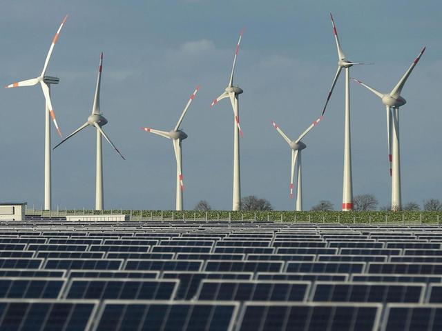 Cánh đồng điện gió ở vùng Weder, Đức.
