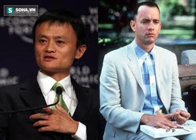 Tỷ phú Jack Ma và nhân vật Forrest Gump (do nam diễn viên Tom Hanks thủ vai).