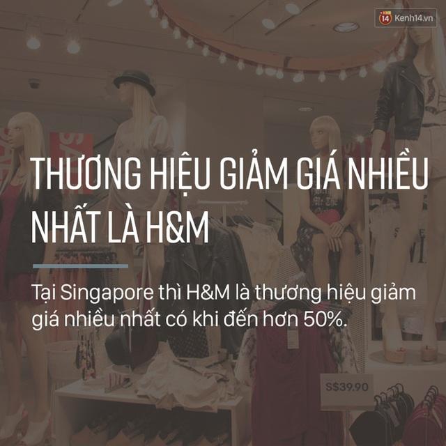 Giờ thì bạn đã hiểu vì sao cứ ai sang đây cũng toàn thấy xách giỏ H&M với logo đỏ choét rồi chứ! Bởi H&M luôn là nhãn hiệu có sức giảm giá mạnh nhất có khi đến hơn 50% vào dịp cuối năm.