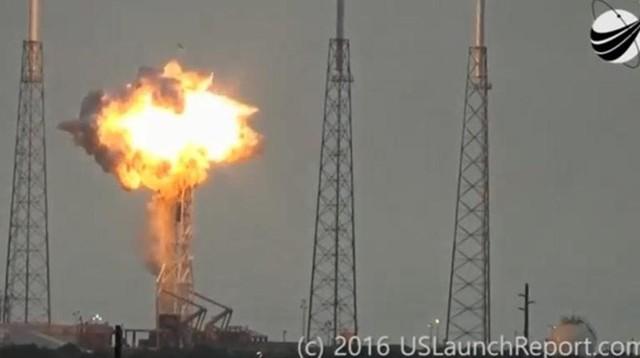 Vụ tai nạn Falcon 9 vào tháng 9/2016. Ảnh: Business Insider.