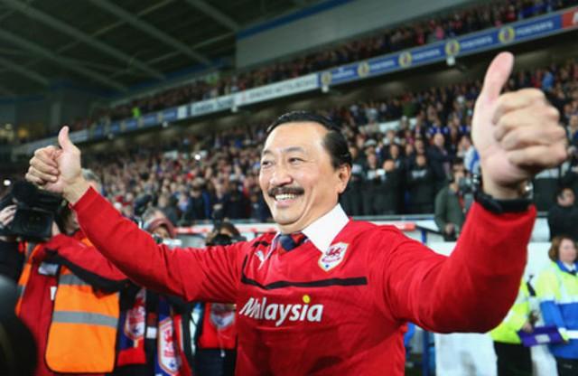 Vincent Tan là chủ sở hữu của câu lạc bộ bóng đá Cardiff City ở Anh