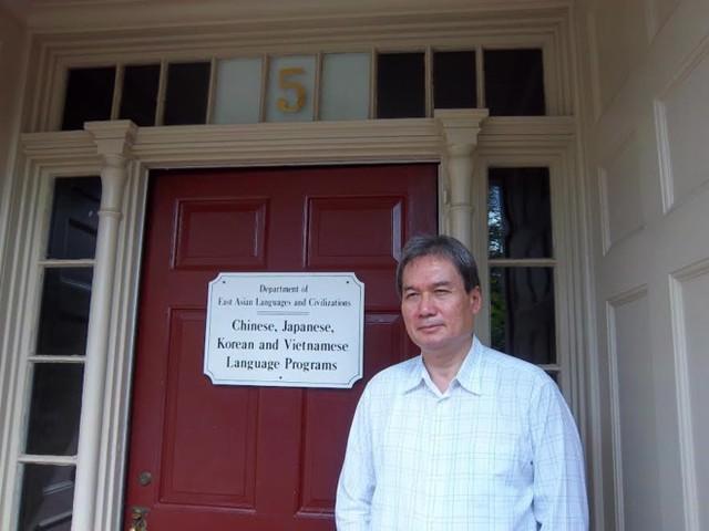 Giáo sư Ngô Như Bình cho biết từ năm 1994, tiếng Việt tại Đại học Harvard đứng ngang hàng với 3 thứ tiếng: Trung, Nhật và Hàn. Ảnh: NVCC.