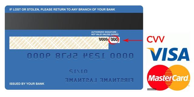 Riêng thẻ Visa Master Amex, người dùng cần che luôn cả số CVV, CSC đằng sau