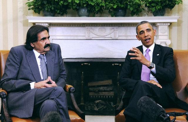 Quốc vương Hamad gặp Tổng thống Obama.