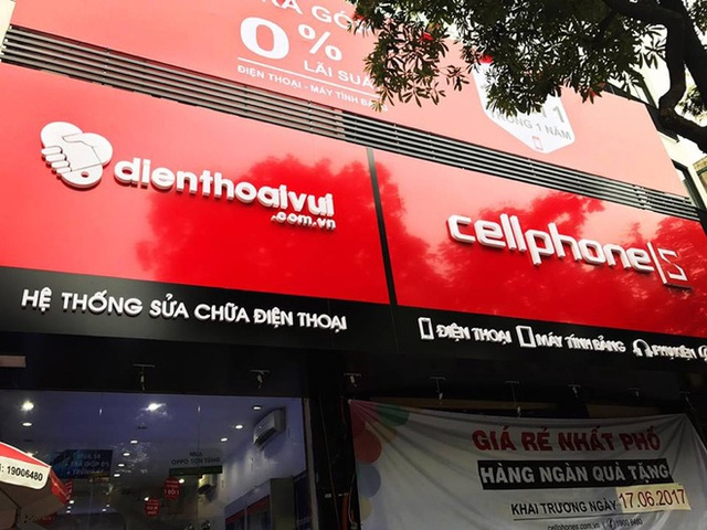 Cửa hàng sửa chữa Điện thoại Vui đặt kế bên cửa hàng CellphoneS.