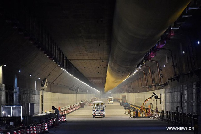 Phần đường hầm ngầm (ảnh chụp ngày 5/7/2017)