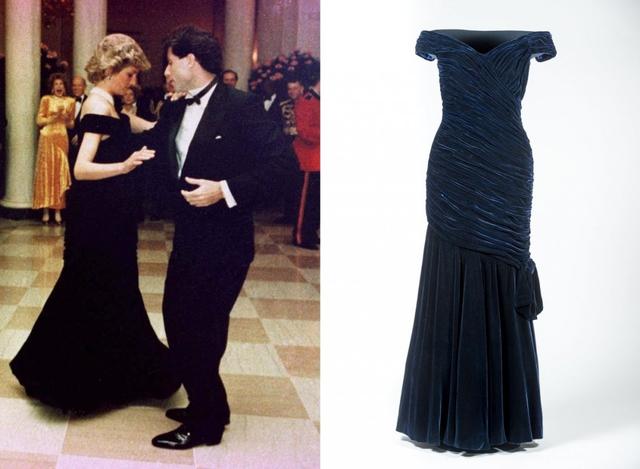 Chiếc váy đen mang thương hiệu Victor Edelsein mà công nương Diana mặc khi tới Nhà Trắng vào năm 1985 cũng là một trong những trang phục đắt giá đáng mơ ước của các người đẹp. Chiếc váy được bán trong một buổi đấu giá năm 2013 với giá hơn 6 tỷ (tương đương 240 nghìn bảng Anh).