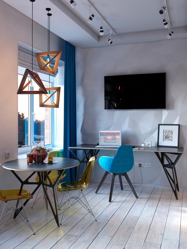 Ấn tượng với thiết kế của căn hộ vỏn vẹn 30m² có những gam màu trang trí vô cùng bắt mắt - Ảnh 2.