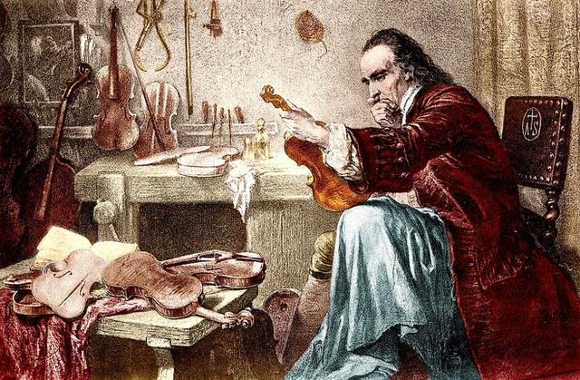 Nghệ nhân bậc thầy Antonio Stradivari đích thân đốn cây gỗ Vân sam về làm đàn violin Messiah Stradivarius năm 1716. Ảnh: Wikipedia.