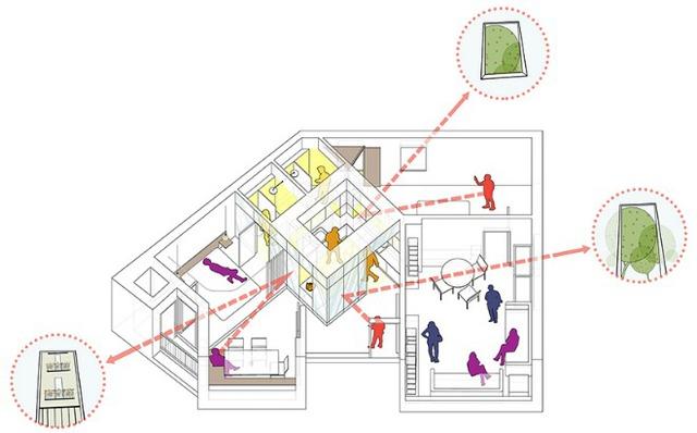Được thay cửa và tường bằng gương, căn nhà cũ thay đổi không ngờ - Ảnh 11.
