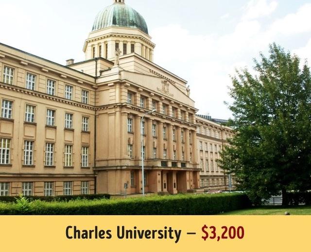Trường Đại học Charles nổi tiếng của Czech có mức học phí trung bình 3.200$ mỗi năm.