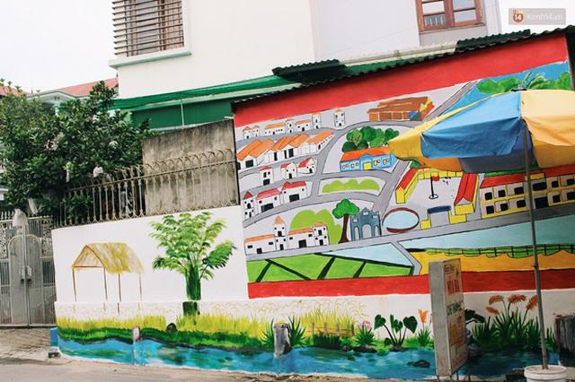 Đâu cần đến Quảng Nam mới có làng bích họa, ngay Hà Nội giờ cũng có con đường được vẽ đẹp mê ly - Ảnh 12.