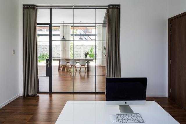 Căn phòng vừa có thể kết nối với không gian chung...
