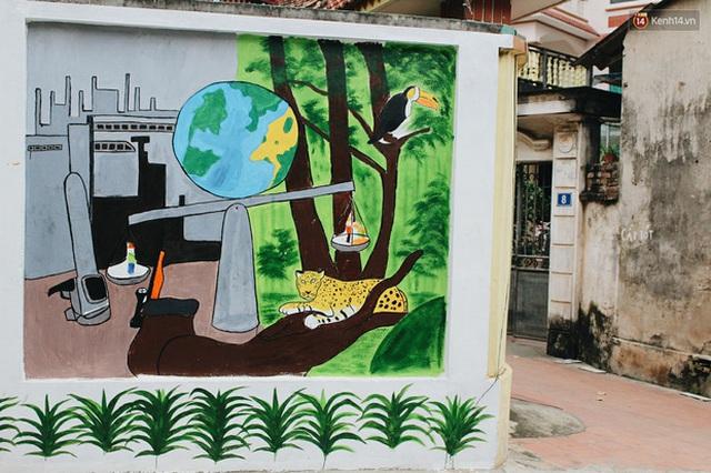 Đâu cần đến Quảng Nam mới có làng bích họa, ngay Hà Nội giờ cũng có con đường được vẽ đẹp mê ly - Ảnh 14.