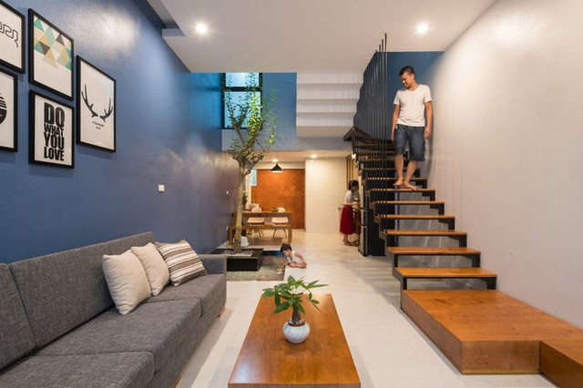 Thiết kế mở ở các khu vực công cộng giúp cả gia đình có nhiều không gian kết nối với nhau.