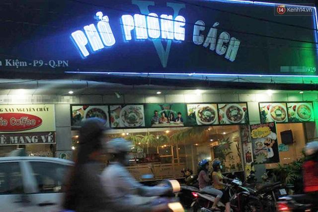 Tiệm phở Phong Cách nằm trên phố Nguyễn Kiệm.