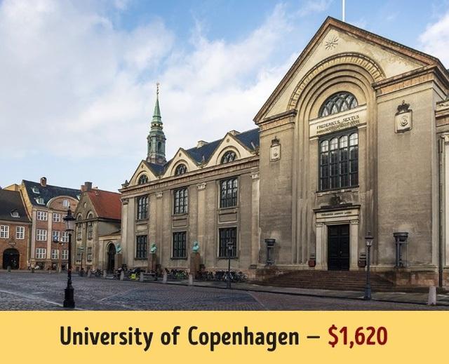 Đại học Copenhagen có mức học phí khá dễ chịu 1.620$/năm.
