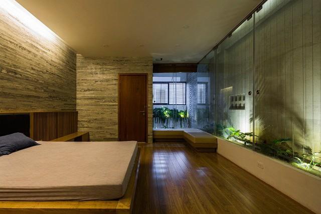 Phòng ngủ nhẹ nhàng và riêng tư.