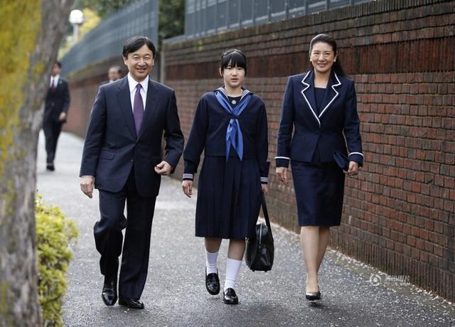 Công chúa chính thức vào Trung học nữ Gakushuin năm 2014.