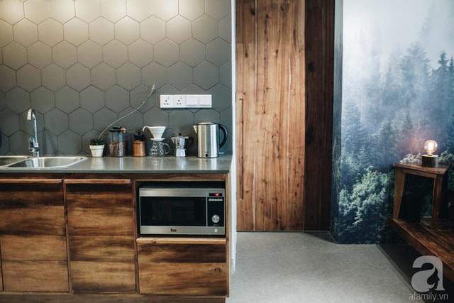 Góc bếp với nội thất hiện đại.