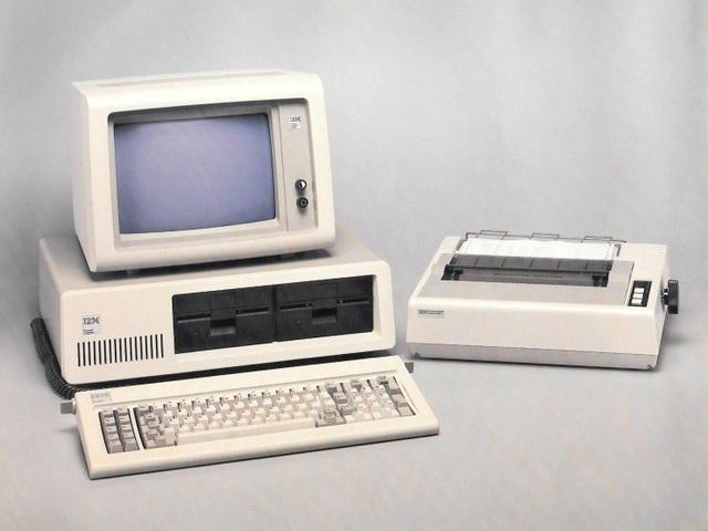 IBM PC 1981.
