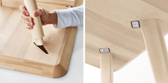 Chiếc bàn Lisabo với thiết kế khớp nối kiểu mới.