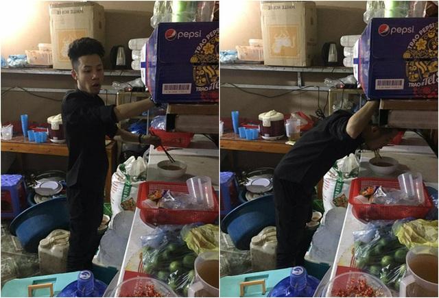 Trong những ngày Tết, Ninh vẫn đầu tắt mặt tối phục vụ ở nhà hàng, nhiều khi chỉ kịp ăn gói mì tôm cho xong bữa.