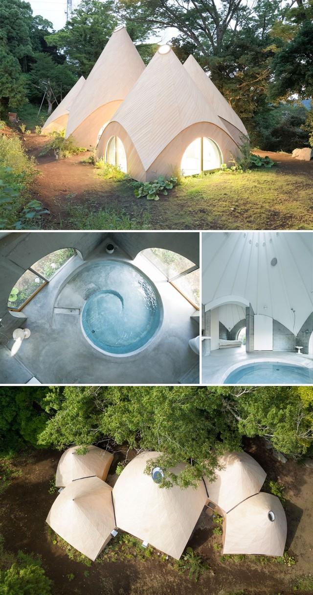 Căn nhà trong rừng này được các kiến trúc sư Nhật Bản thiết kế dành cho 2 phụ nữ đã về hưu. Đây là nơi giúp họ trở về với thiên nhiên.