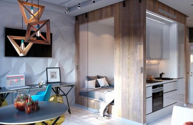 Ấn tượng với thiết kế của căn hộ vỏn vẹn 30m² có những gam màu trang trí vô cùng bắt mắt - Ảnh 3.