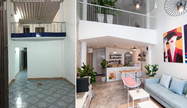 Hình ảnh của ngôi nhà trước và sau khi cải tạo.