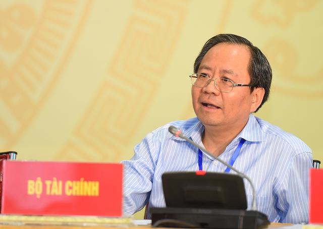 Đại diện Bộ Tài chính. Ảnh: VGP/Quang Hiếu