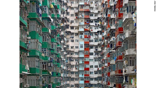 Nhà chung cư ở Hồng Kông - chụp trong bộ ảnh Architecture Density (Mật độ kiến trúc)