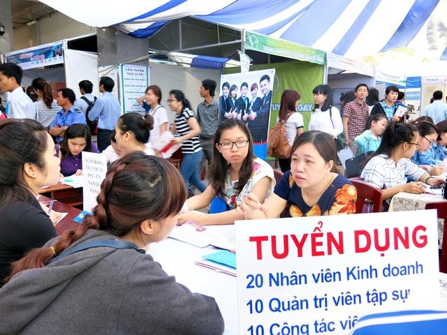 Hình ảnh tại một ngày hội tuyển dụng tại Hà Nội