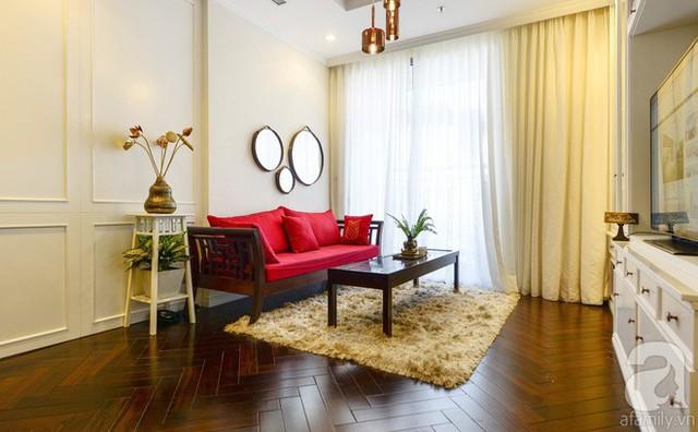 Khu vực phòng khách tuy nhỏ nhưng đẹp mắt, thoáng sáng.
