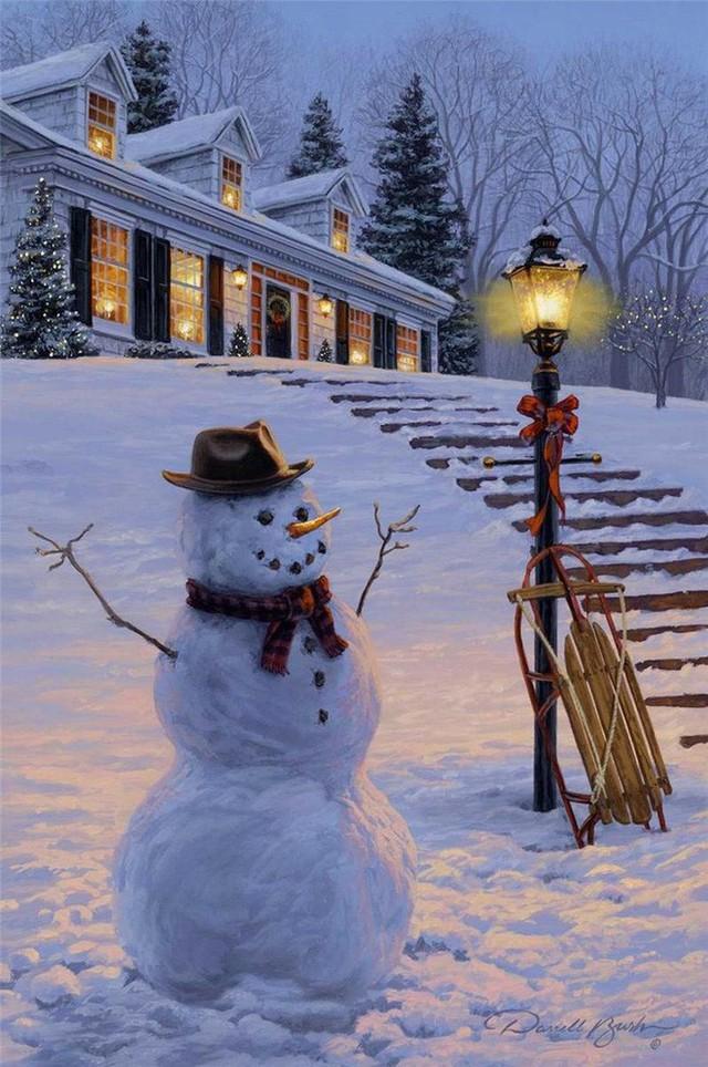 Những ngôi nhà trang hoàng lộng lẫy đón Noel đẹp đến mê mẩn giữa tuyết trắng - Ảnh 4.