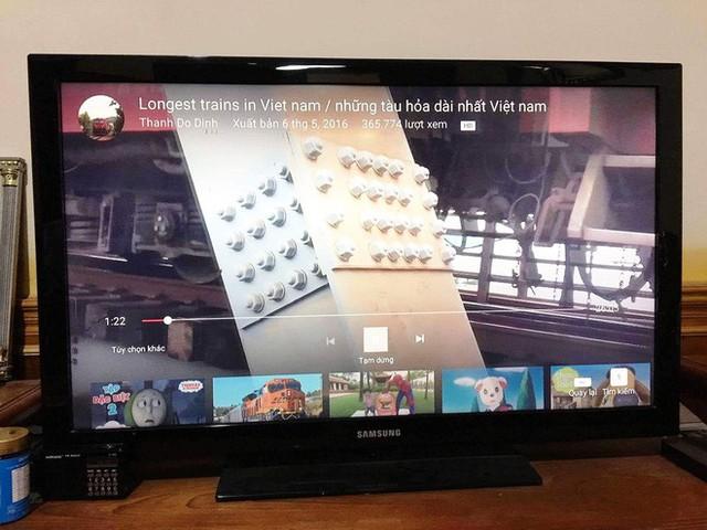 Xem YouTube trên một số mẫu TV thông minh sẽ giúp ẩn phần bình luận.