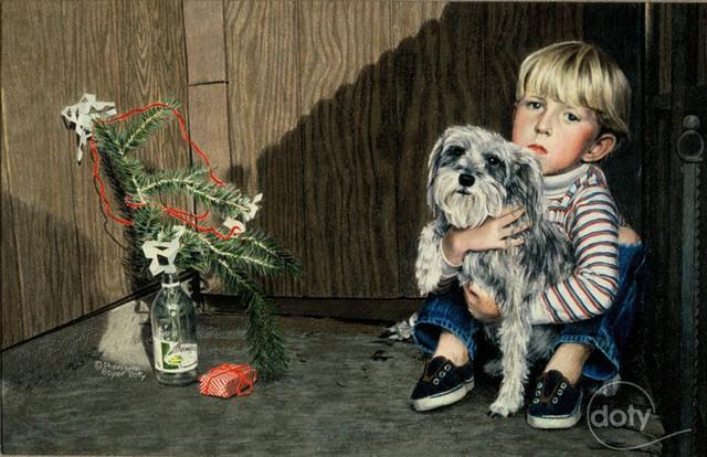Dù giàu hay nghèo, đứa trẻ nào cũng mong rằng ông Noel sẽ tới.