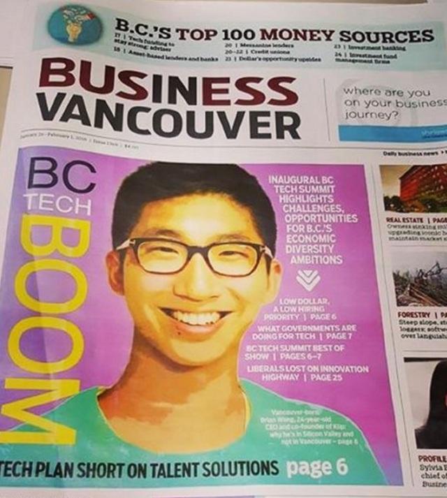 Wong là người trẻ nổi tiếng ở Trung Quốc và Canada