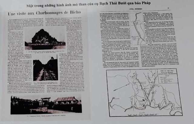 Hình ảnh mỏ than của Bạch Thái Bưởi trên báo Pháp. Ảnh: NVCC