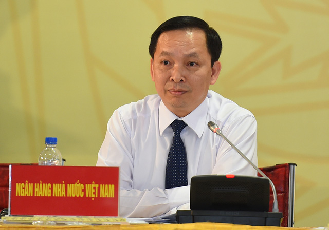Đại diện NHNN tại họp báo. Ảnh: VGP/Quang Hiếu