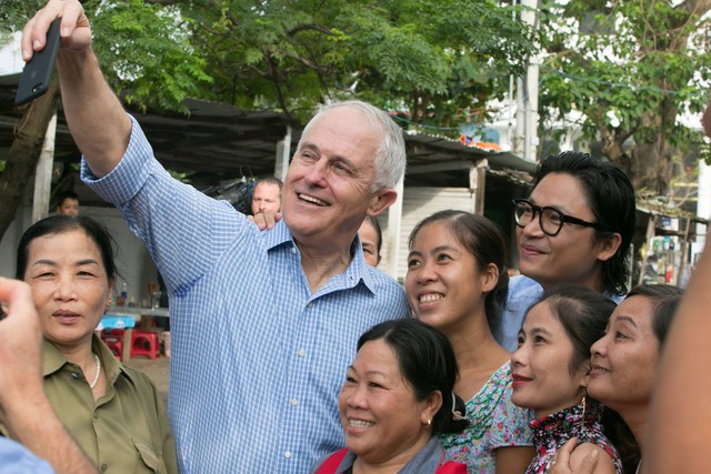 Thủ tướng Úc cho biết khá thích hương vị tươi ngon của đồ ăn Việt Nam. Ảnh: Facebook Australia in Vietnam