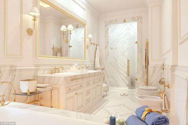 Choáng ngợp với bồn tắm bằng đá quý thạch anh trong biệt thự triệu đô của giới siêu giàu - Ảnh 6.