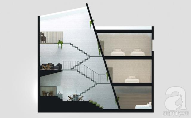 Với 1.5 tỷ đồng, KTS đã hoàn thiện căn nhà ống 3.5 tầng với tổng diện tích gần 300m² - Ảnh 6.