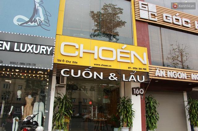 Quán ăn có tên là Choén quán. Ảnh: Thu Hường.