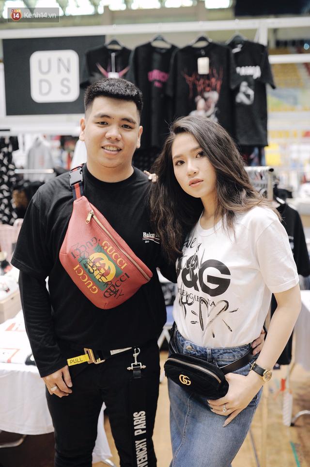Couple này diện gần nguyên cây từ Gucci cho tới Balen, Givenchy và D&G cực chất.