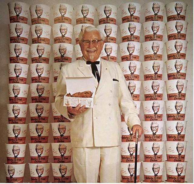 Đại tá Sanders chỉ làm đại sứ thương hiệu của KFC, mà không nhận cổ phần của công ty