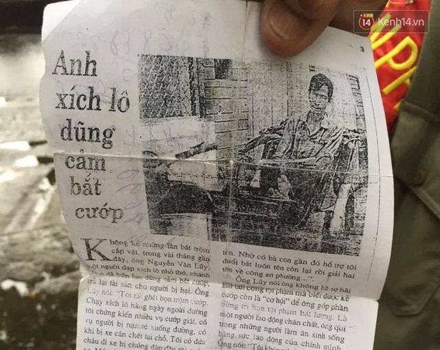 Bài báo cũ viết về chiến tích của bác Lũy thời trẻ.