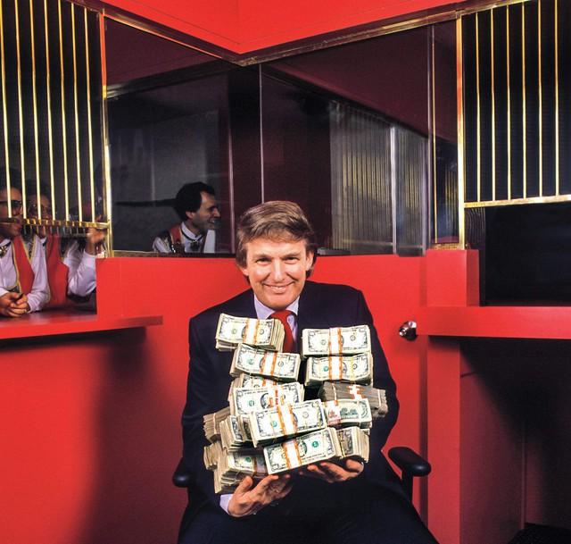 Ảnh chụp ngài Donald Trump ở Atlantic City, năm 1990.