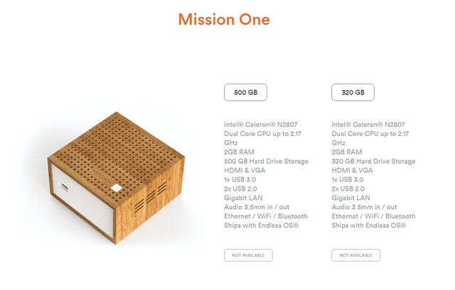 Thông số chi tiết chiếc Mission One