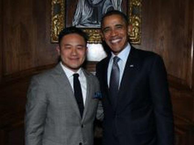 Chính bức ảnh avatar Liew chụp cùng Tổng thống Obama đã thu hút Evan Spiegel
